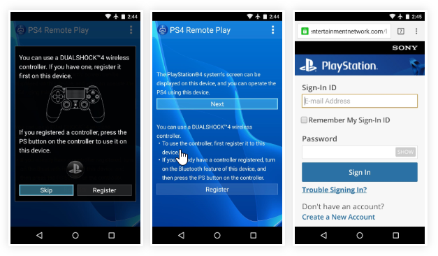 ps4 remote play apk install