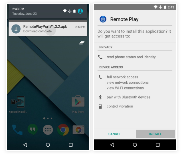 remote play apk install