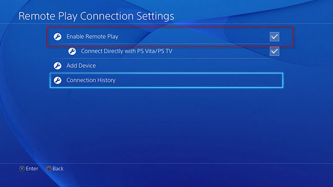 enable remote play