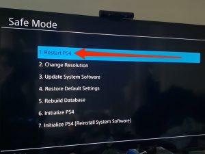 How to Get Your PS4 System Out of Safe Mode
